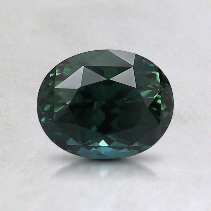 6.6x5.3mm Unheated Teal Oval Sapphire