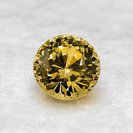5.4mm Yellow Round Sapphire, top view