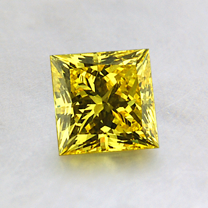 5.43mm Lab Created Yellow Princess Diamond