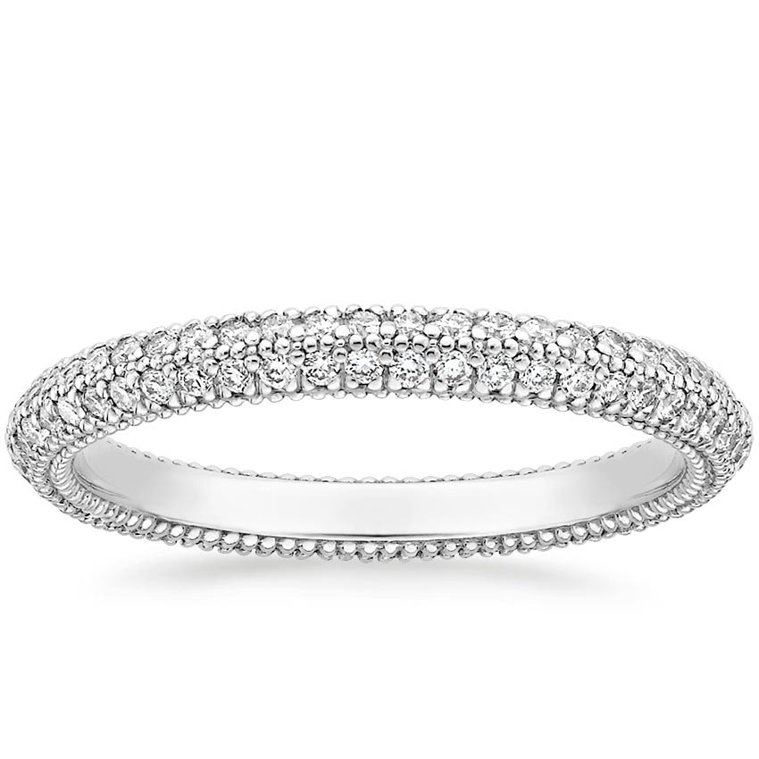 Domed Pavé Diamond Wedding Band