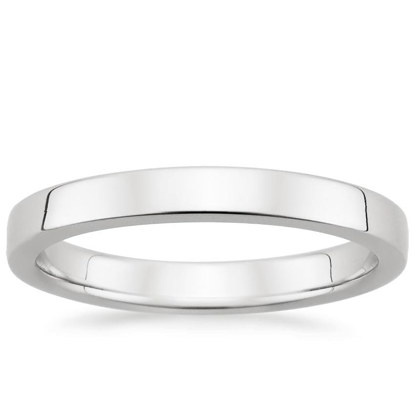 18K White Gold 2.5mm Quattro Wedding Ring, top view