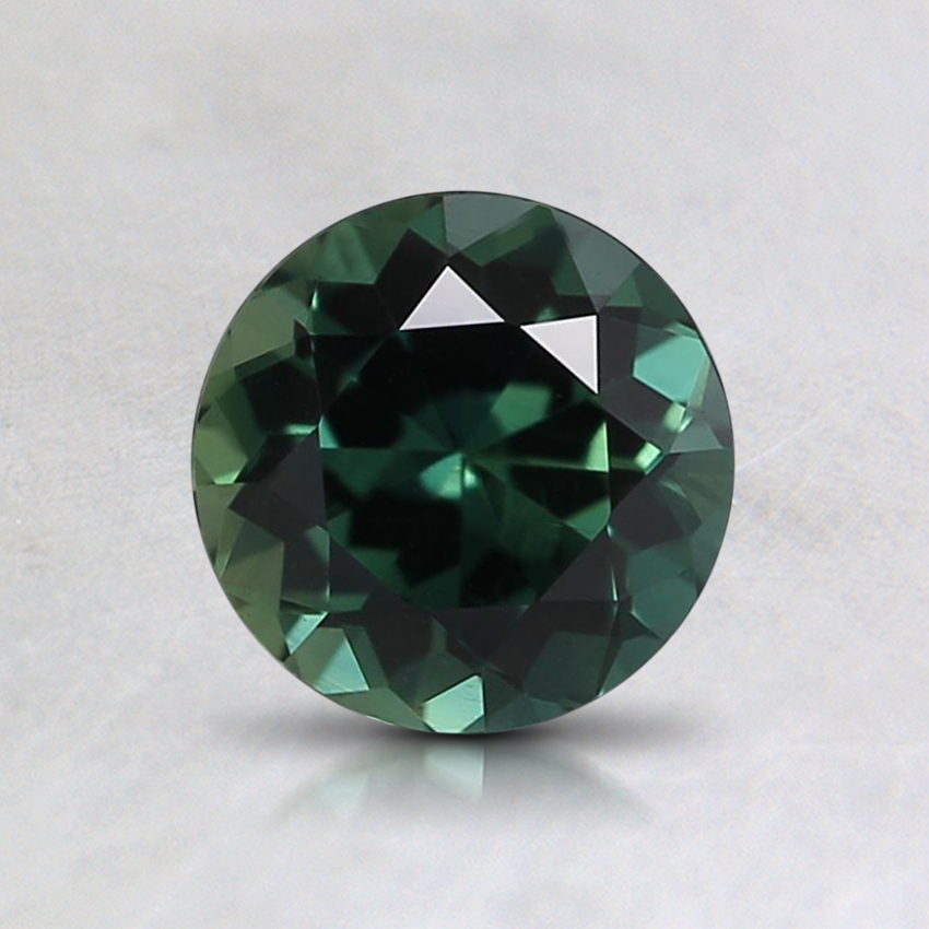 5.9mm Unheated Teal Round Sapphire