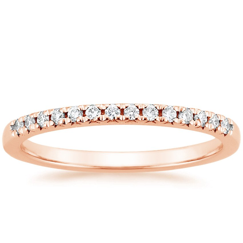 14K Rose Gold Sonora Diamond Ring, top view