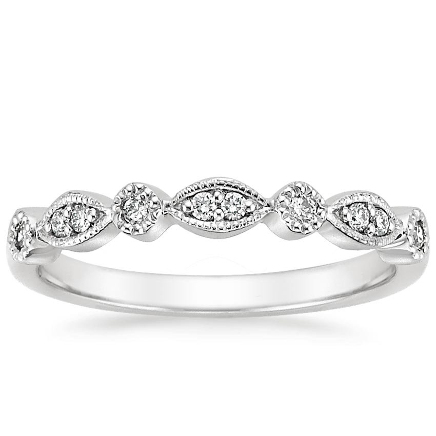Platinum Tiara Diamond Ring (1/8 ct. tw.), top view