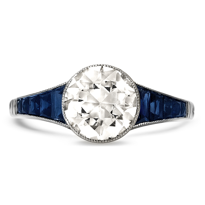 439848308 Art Deco Diamond Vintage Ring | Foxcroft | Brilliant Earth