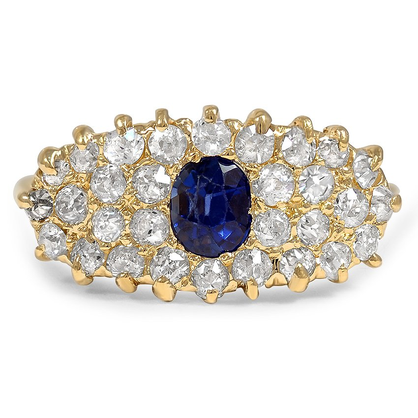 Victorian Sapphire Cocktail Ring