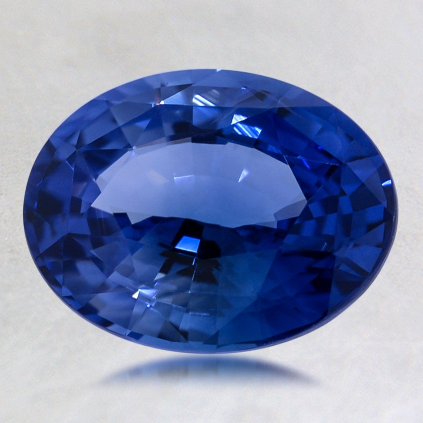 9x7mm Premium Blue Oval Sapphire, top view