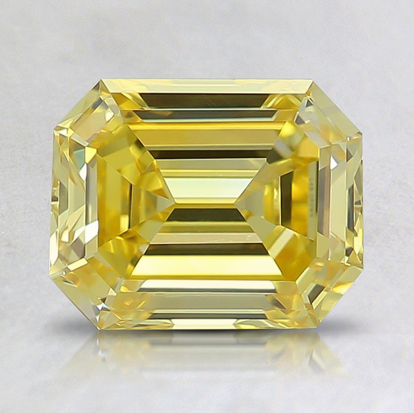 1.05 Ct. Fancy Vivid Yellow Emerald Lab Created Diamond