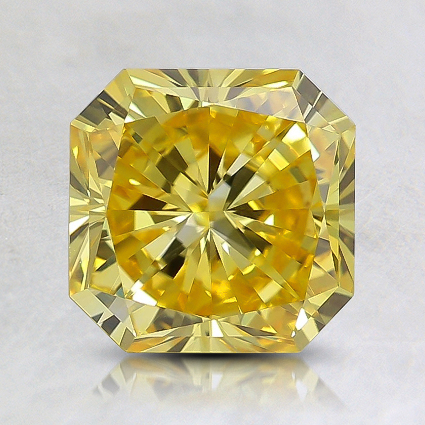 1.78 Ct. Fancy Vivid Orangy Yellow Radiant Lab Created Diamond