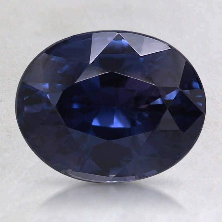 8.7x7mm Unheated Blue Oval Sapphire
