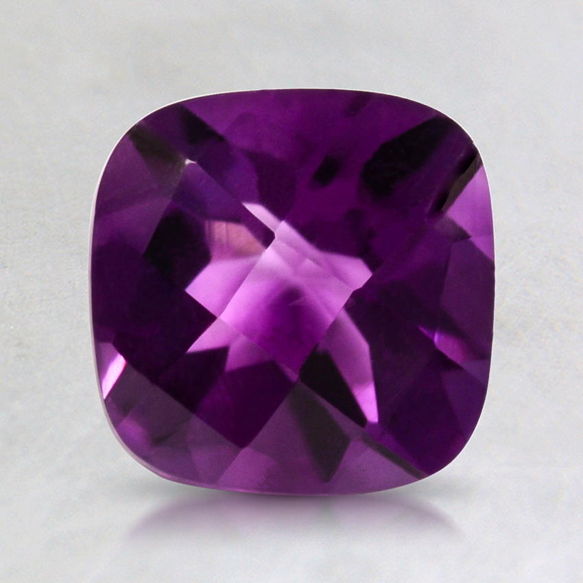 7mm Fine Purple Cushion Amethyst, top view
