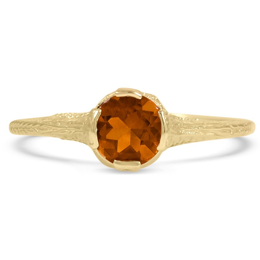Edwardian Citrine Vintage Ring