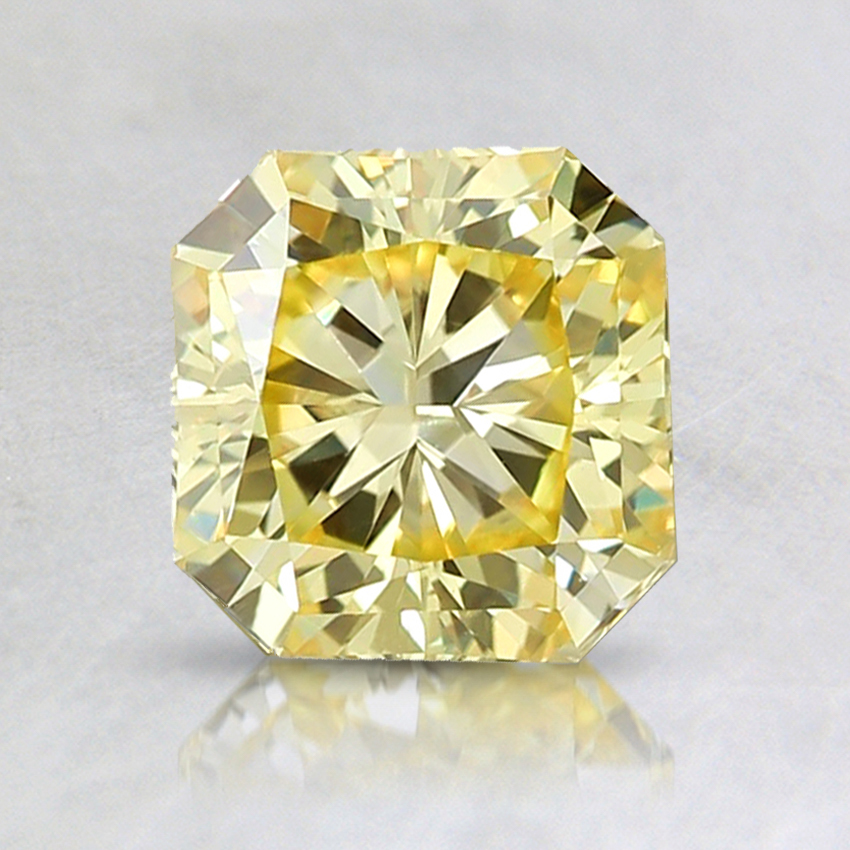 1.06 Ct. Fancy Intense Yellow Radiant Lab Created Diamond
