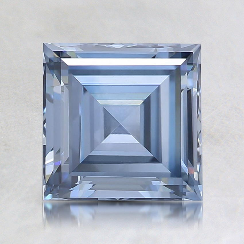 1.57 Ct. Fancy Blue Asscher Lab Created Diamond
