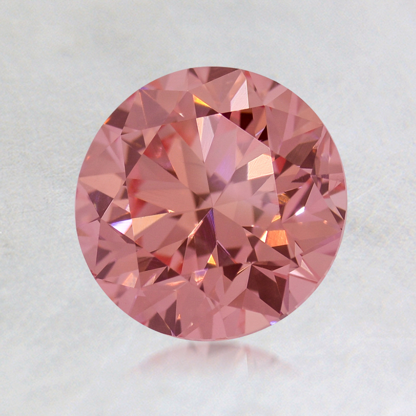 1.25 ct. Lab Created Fancy Vivid Pink Round Diamond