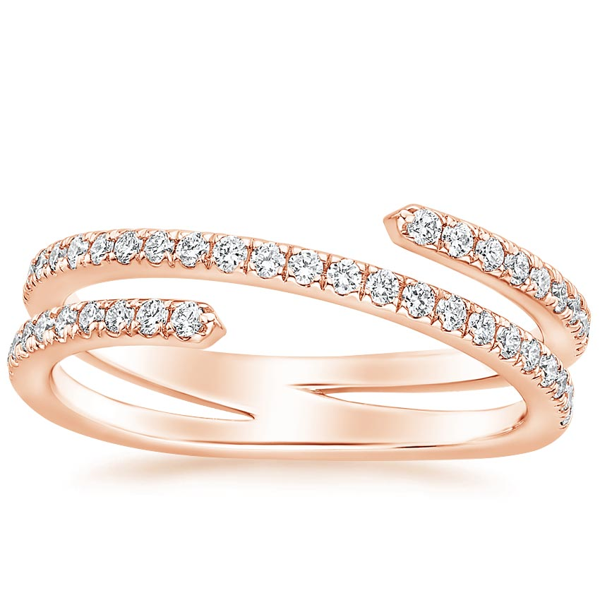 Rose Gold Helix Diamond Ring (1/3 ct. tw.)