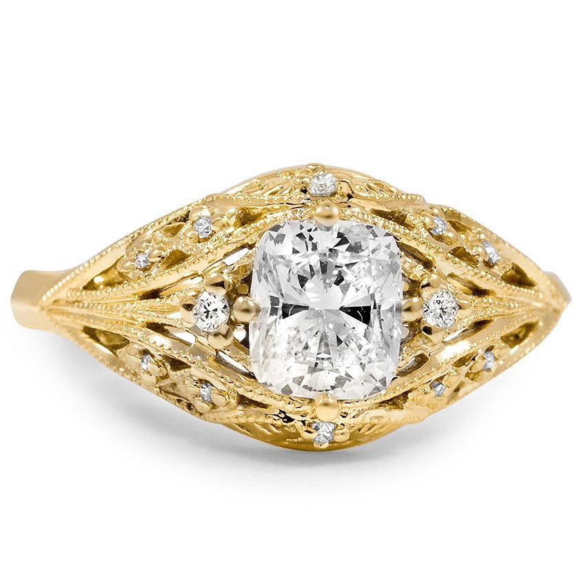 Custom Glamorous Art Deco Diamond Ring