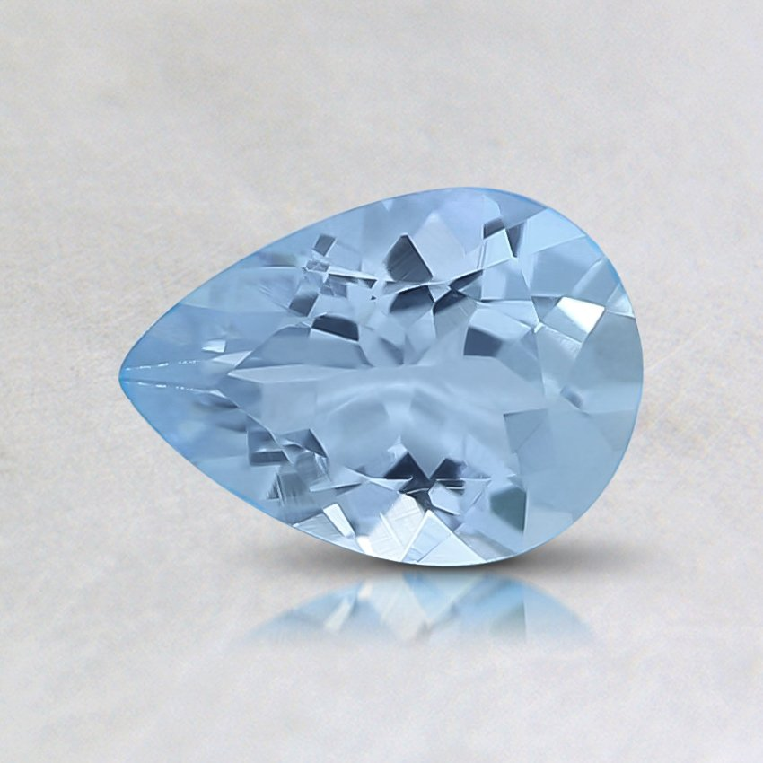 7x5mm Fine Pear Aquamarine