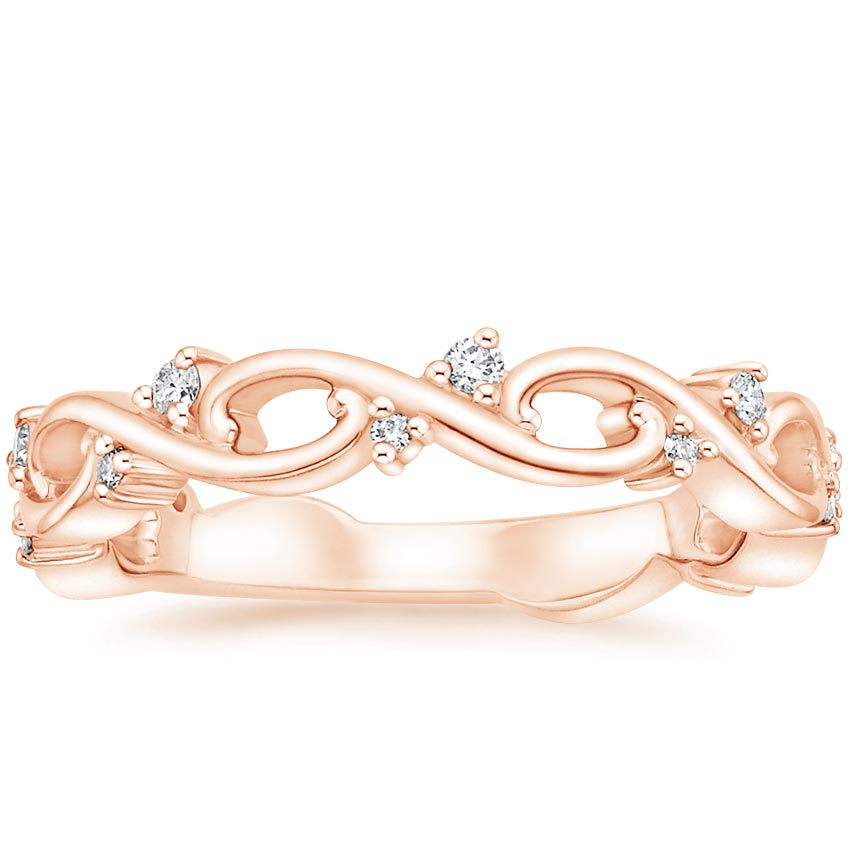 Rose Gold Pierced Filigree Wedding Ring