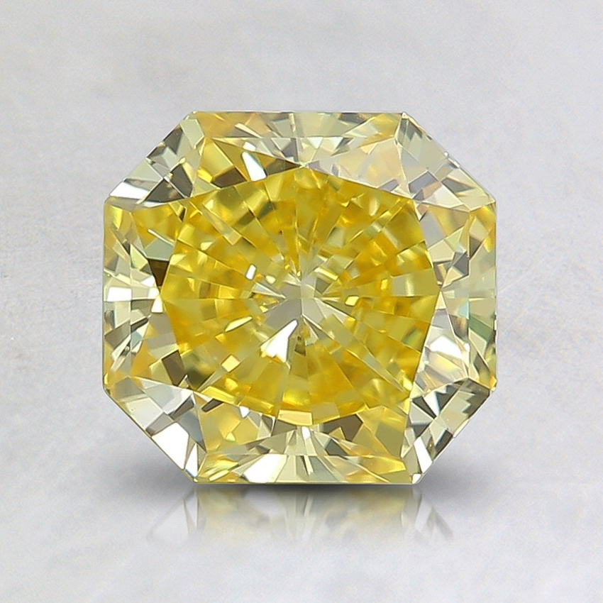 1.33 Ct. Fancy Vivid Yellow Radiant Lab Created Diamond