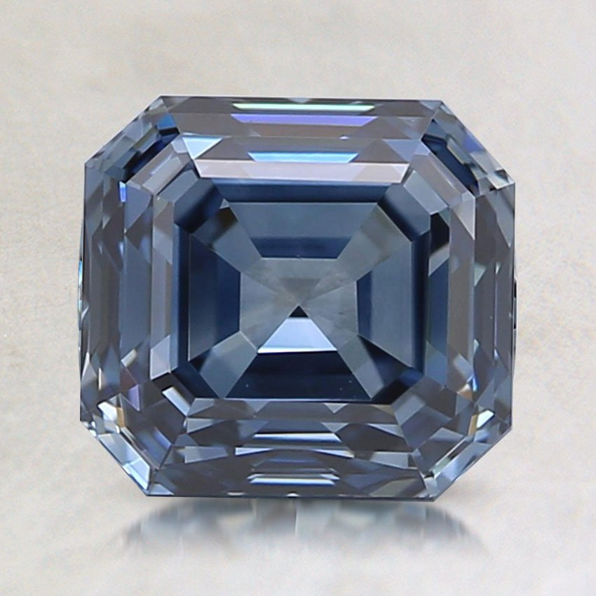 1.08 Ct. Fancy Blue Asscher Lab Created Diamond