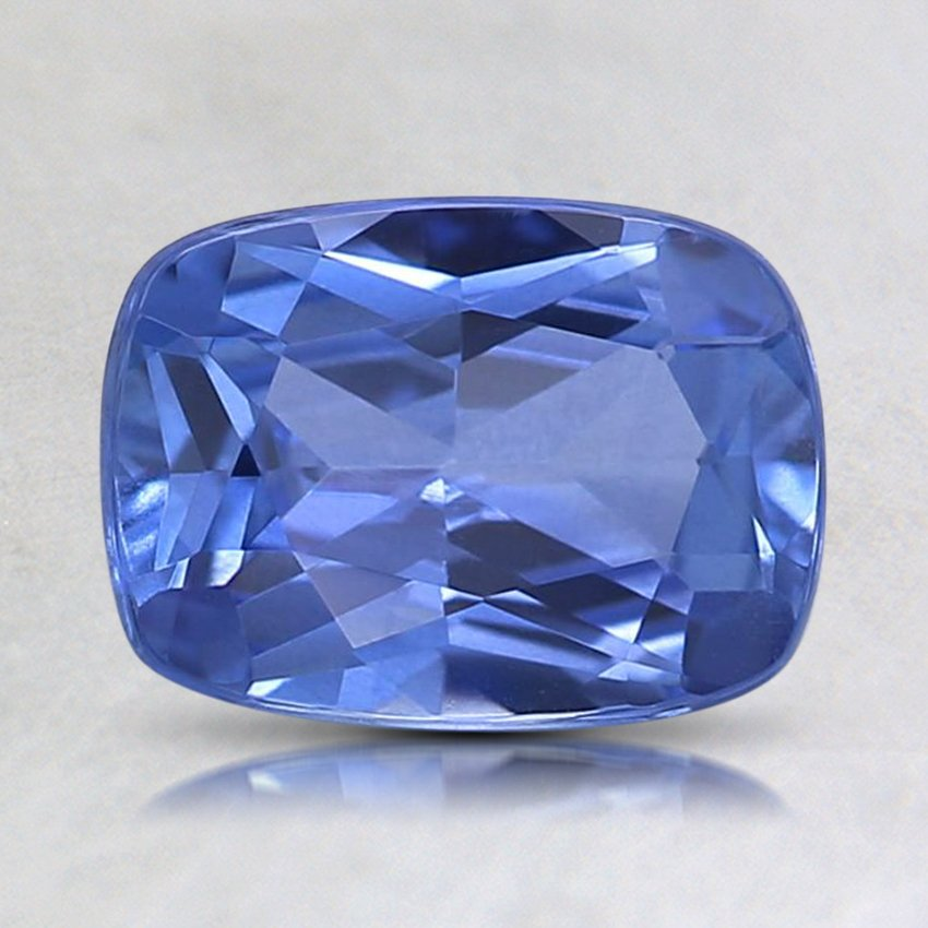8X6.1mm Blue Cushion Sapphire, top view