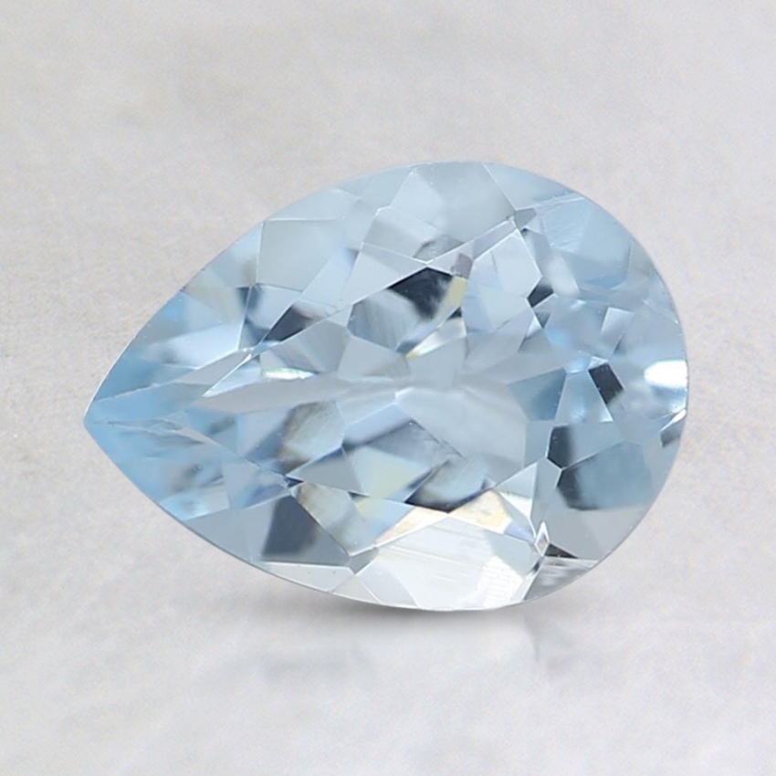 8x6mm Fine Pear Aquamarine