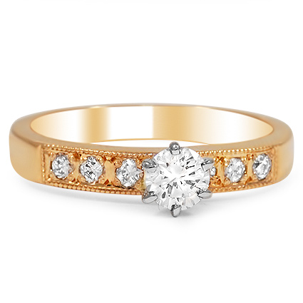 The Pia Engagement Ring, top view