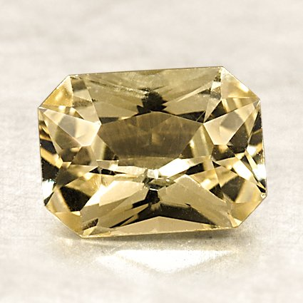 8x6mm Premium Yellow Radiant Sapphire, top view