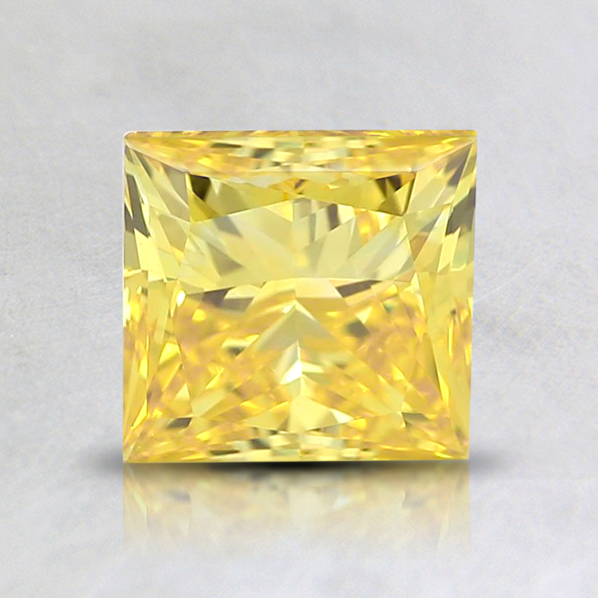 1.33 Ct. Fancy Vivid Orangy Yellow Princess Lab Created Diamond