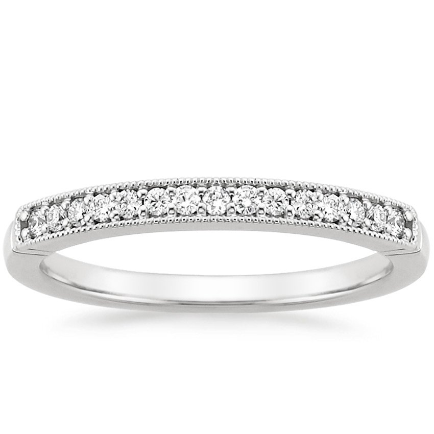 Milgrain Diamond Ring