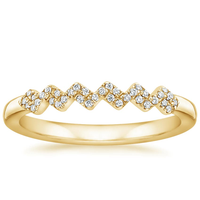 Yellow Gold Prism Diamond Ring