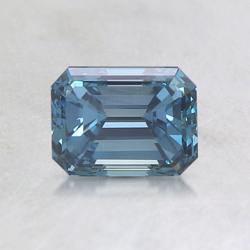 0.88 Ct. Fancy Greenish Blue Emerald Lab Created Diamond