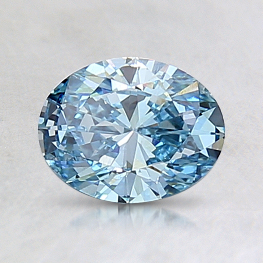 1.00 Ct. Fancy Vivid Blue Oval Lab Created Diamond