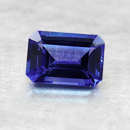 6.5X4.5mm Premium Blue Emerald Sapphire, top view