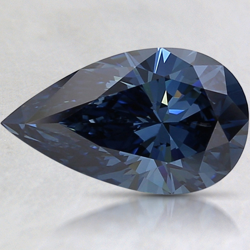 2.00 Ct. Fancy Deep Blue Pear Lab Created Diamond
