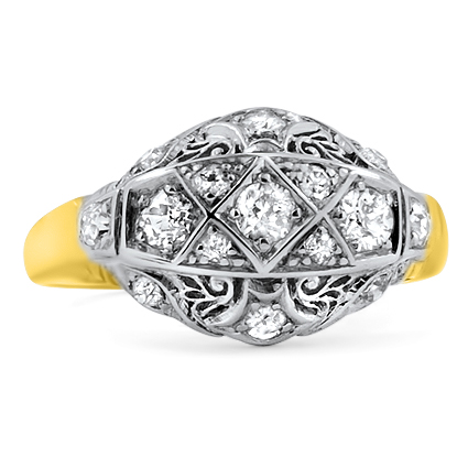 The Raphaela Ring, top view
