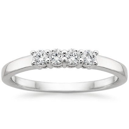 Sweetheart Diamond Ring in 18K White Gold