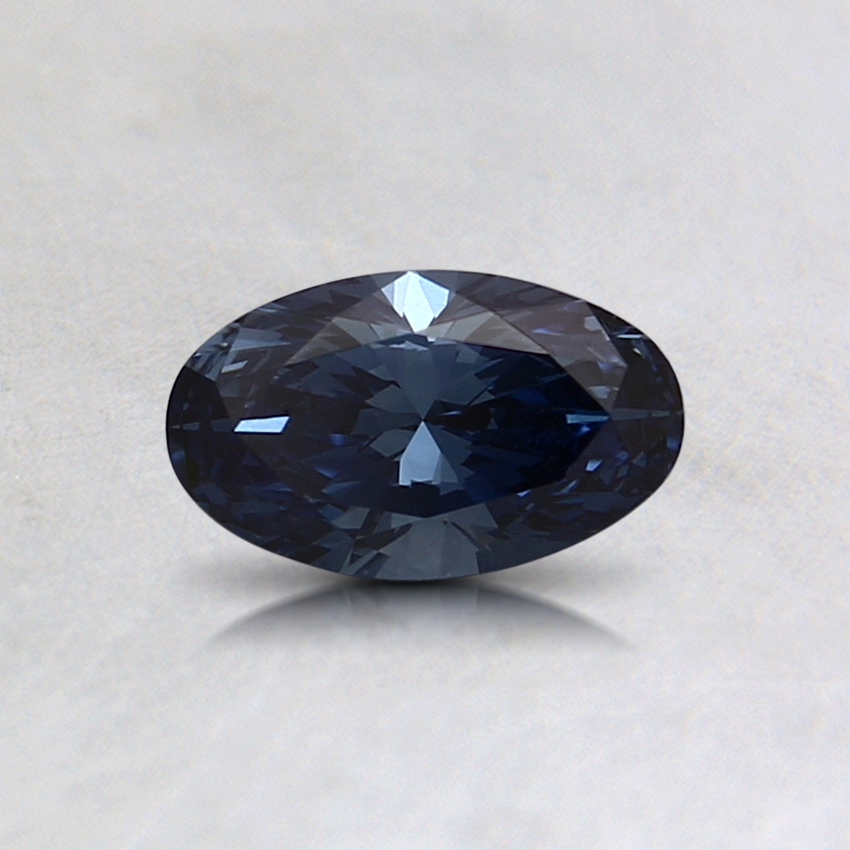 0.44 Ct. Fancy Vivid Blue Oval Lab Created Diamond