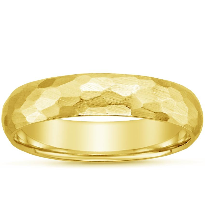 18K Yellow Gold Canyon Ring, top view