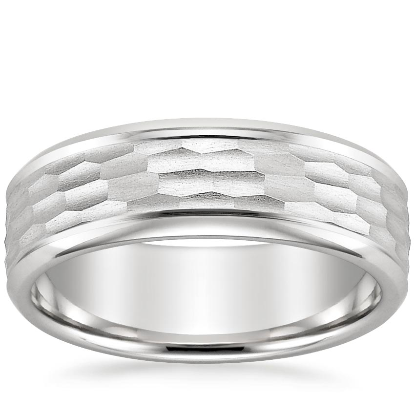 River Wedding Ring in 18K White Gold