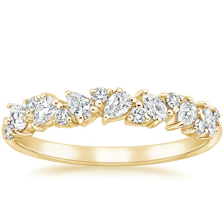 Yellow Gold Pear Wedding Band
