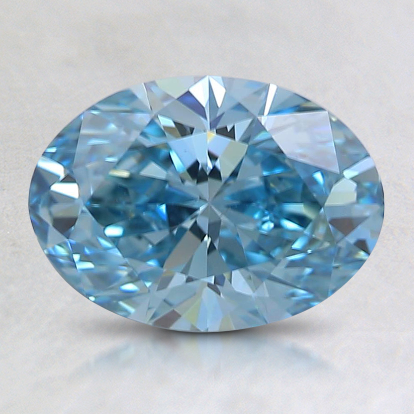 1.32 Ct. Fancy Intense Blue Oval Lab Created Diamond