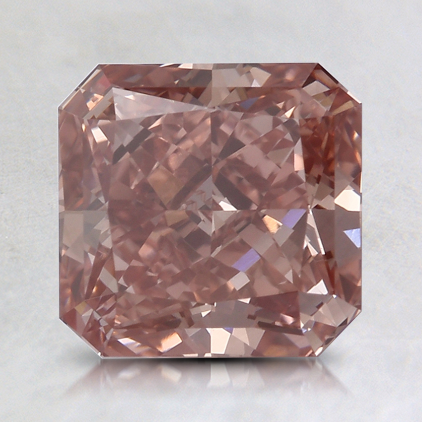 2.01 Ct. Fancy Deep Orangy Pink Radiant Lab Created Diamond