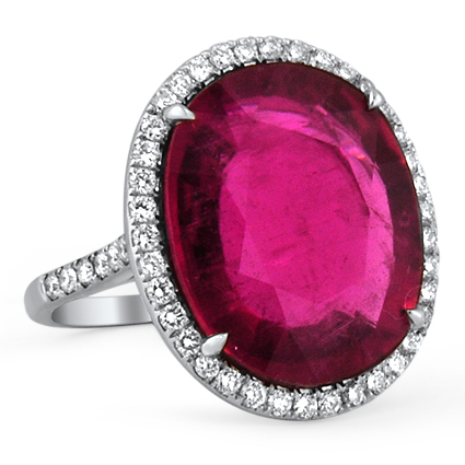 The Principessa Ring, top view