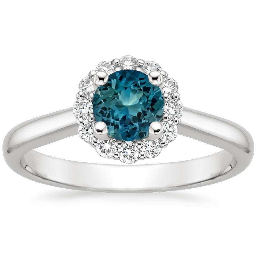 sapphire lotus flower diamond ring 1 3 ct tw in platinum. Black Bedroom Furniture Sets. Home Design Ideas