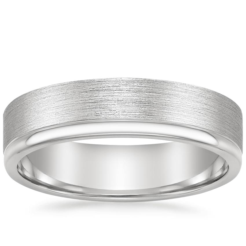 Matte Grooved Men's Wedding Ring