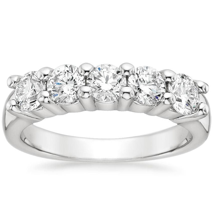 18K White Gold Luxe Five Diamond Ring (1 ct. tw.), top view