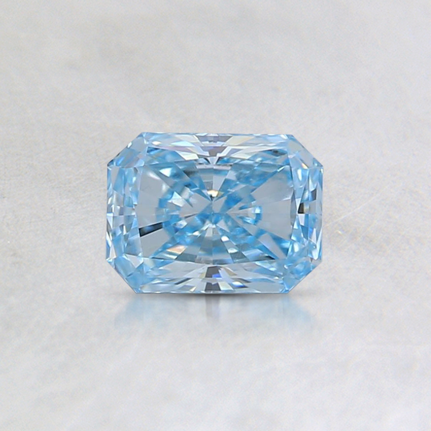 0.46 Ct. Fancy Blue Radiant Lab Created Diamond