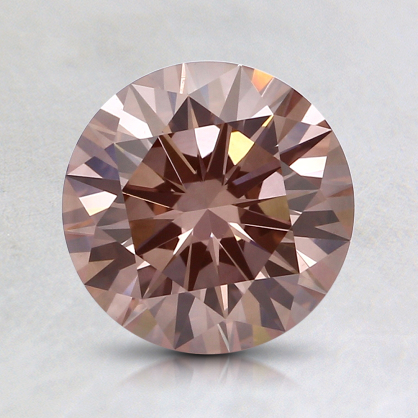 1.28 Ct. Fancy Pink-Brown Round Lab Created Diamond